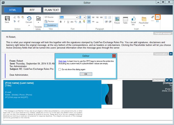Podpowiedź odnośnie użycia tagów Remove Text w edytorze stopek.