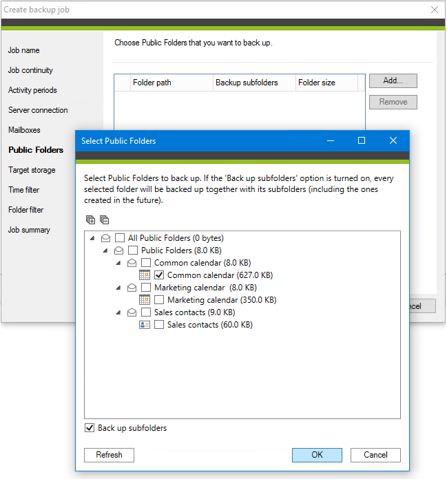 CodeTwo Backup tworzy kopie zapasowe folderów publicznych i zapisuje je na dysku lokalnym.