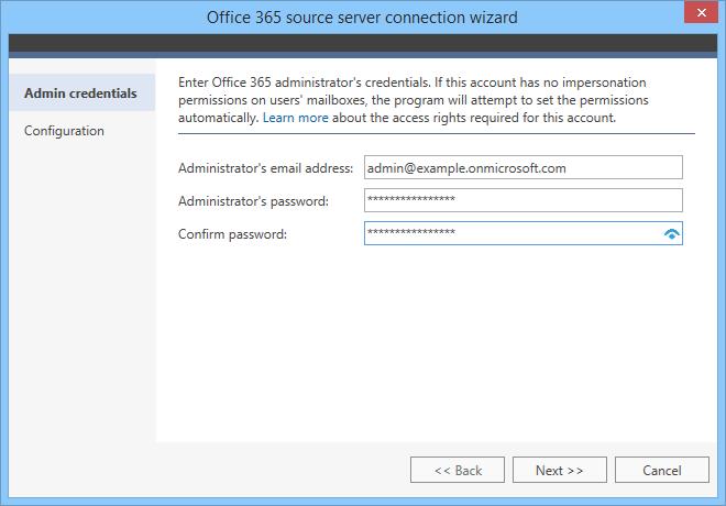 Migracja z Office 365 - łączenie z serwerem źródłowym