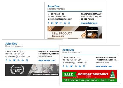 Różne banery marketingowe na różne okazje