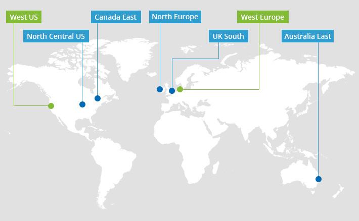 nowe geolokalizacje serwerów Email Signatures for Office 365 - West Europe, West US