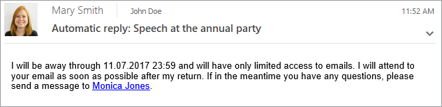 Automatyczne odpowiedzi dla użytkowników w Exchange i Office 365