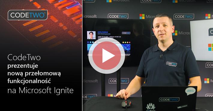 CodeTwo prezentuje przełomową aktualizację dla podpisów klienckich na Microsoft Ignite