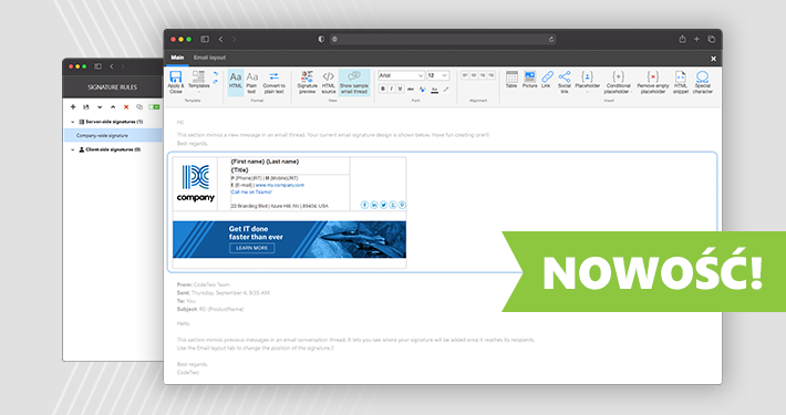 Całkowicie webowy interfejs wkrótce w CodeTwo Email Signatures for Office 365