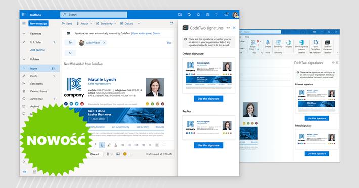 CodeTwo wydaje pierwszy na świecie webowy dodatek dla Outlook i Outlook w sieci Web