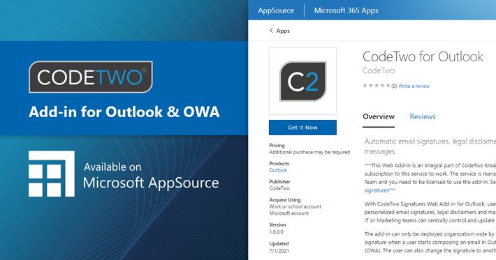 Dodatek do podpisów w Outlooku dostępny w Appsource