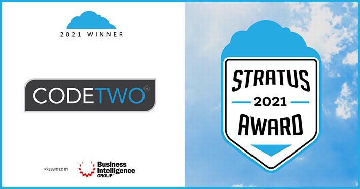 2021 Stratus Awards – CodeTwo najlepszą firmą tworzącą rozwiązania chmurowe