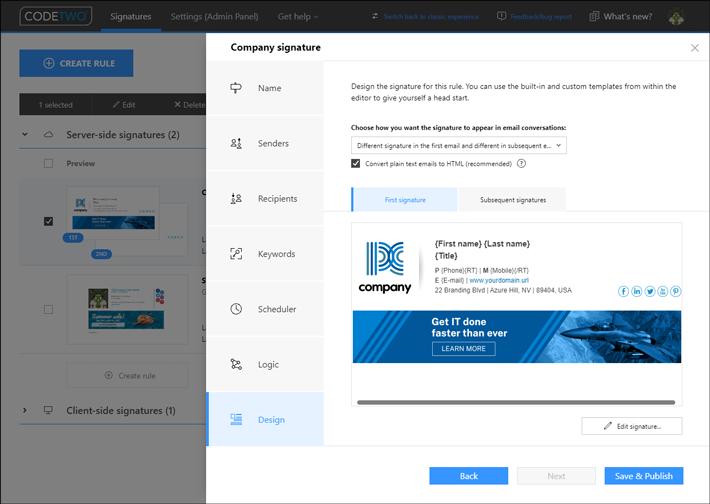 Nowy interfejs - krok Design