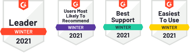 Reviews G2 Badges Winter 2021