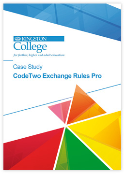 CodeTwo Exchange Rules Pro - Case Study by Kingston College
