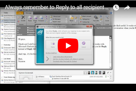 CodeTwo Reply All Reminder wideo