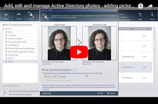 CodeTwo Active Directory Photos video