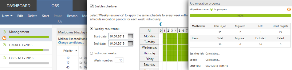 Schedule the migration process
